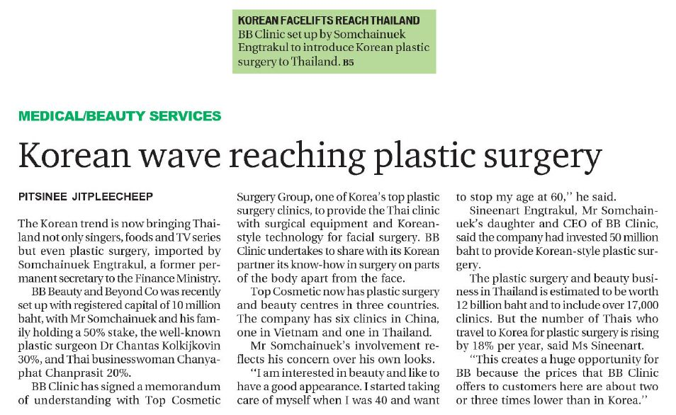 Korean wave reaching plastic surgery - BKK Post