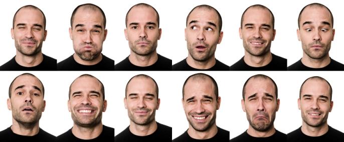 การแสดงออกทางสีหน้าและใบหน้า
