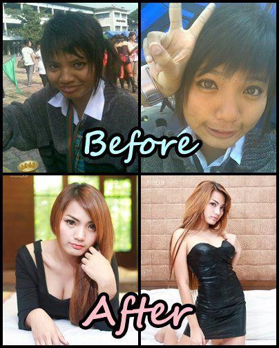 before after แต่งหน้าขั้นเทพ